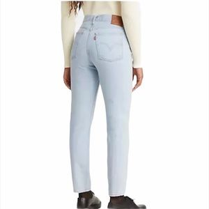 Levi's Wedgie Tapered Leg High Rise Blue Jeans